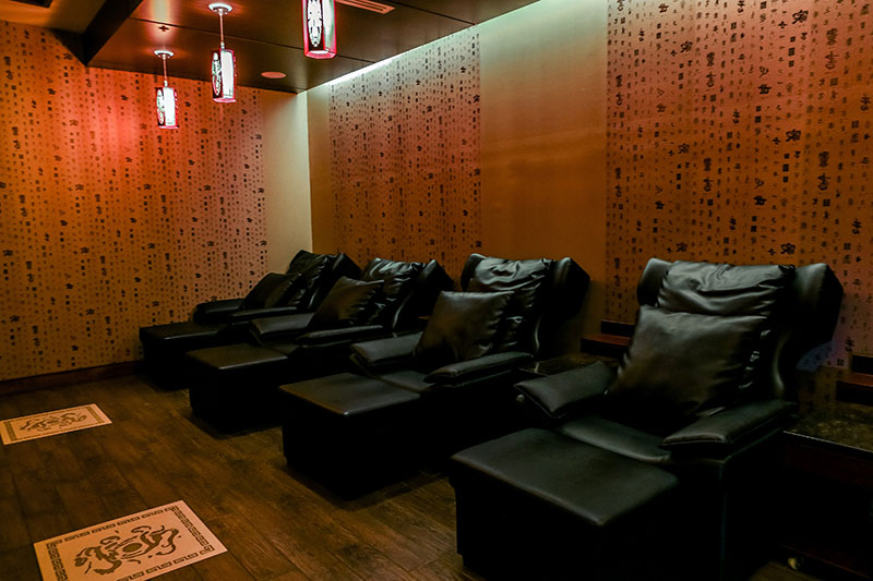 Foot Massage Room with Beautiful Decor at Treat Your Feet Doraville