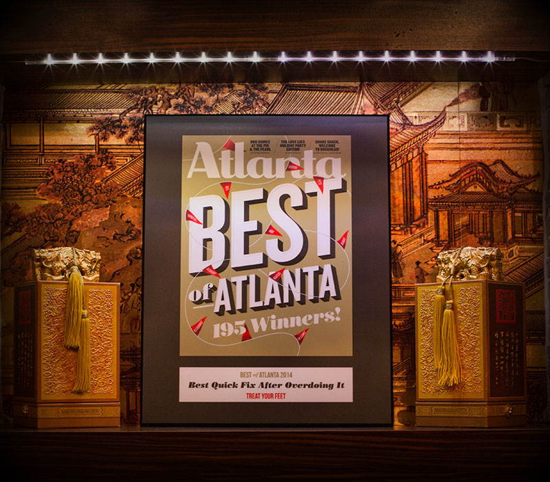 Best of Atlanta Award Plaque (Best Quick Fix After Overdoing It) at Treat Your Feet Doraville