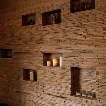 Decorative Stone Wall at Treat Your Feet Doraville - OTP Atlanta Massage Spa