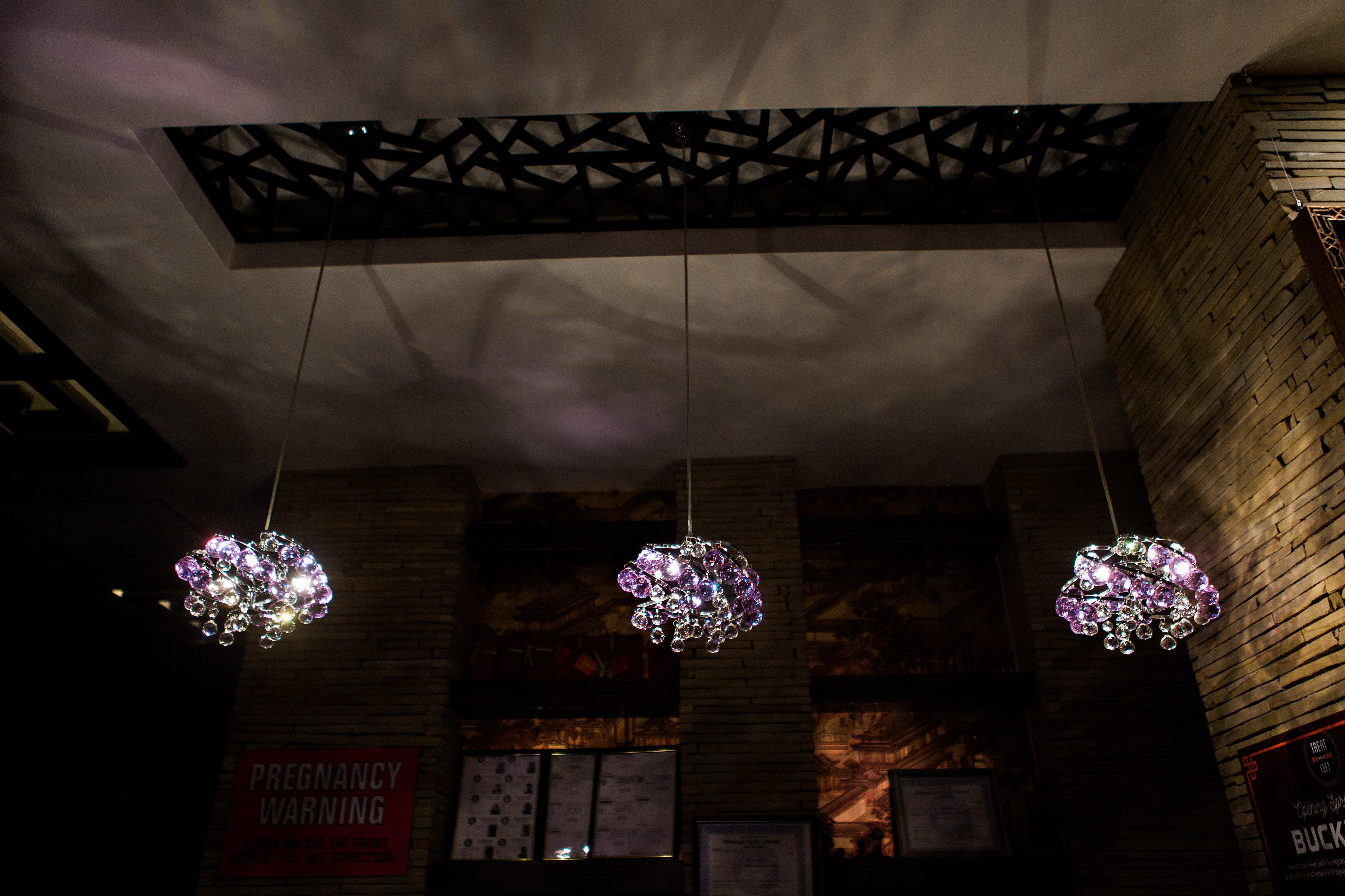 Beautiful Chandeliers at Treat Your Feet Doraville - OTP Atlanta Massage Spa